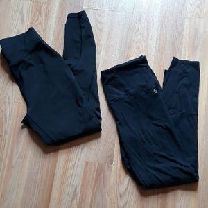 Bundle of two black leggings